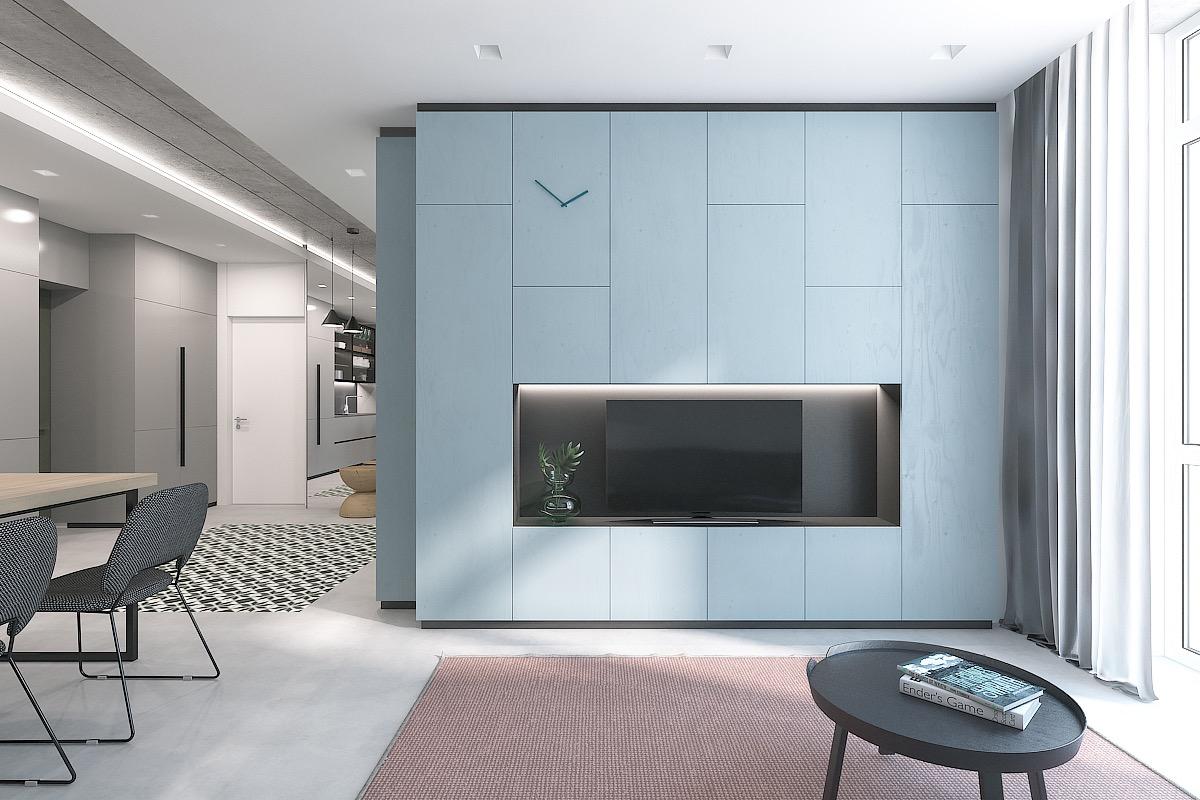 Living Room Light Blue