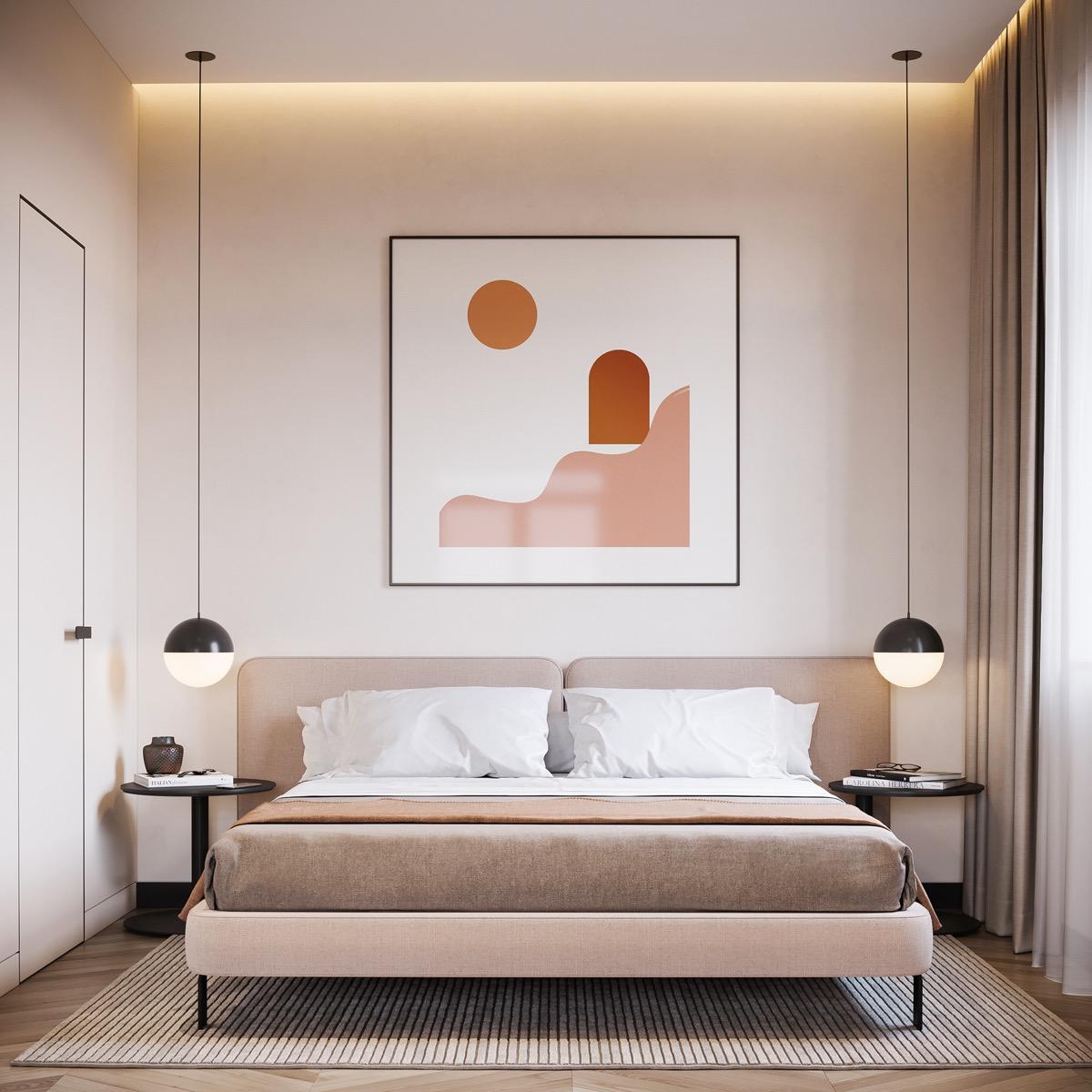 Minimalist Artistic Bedroom