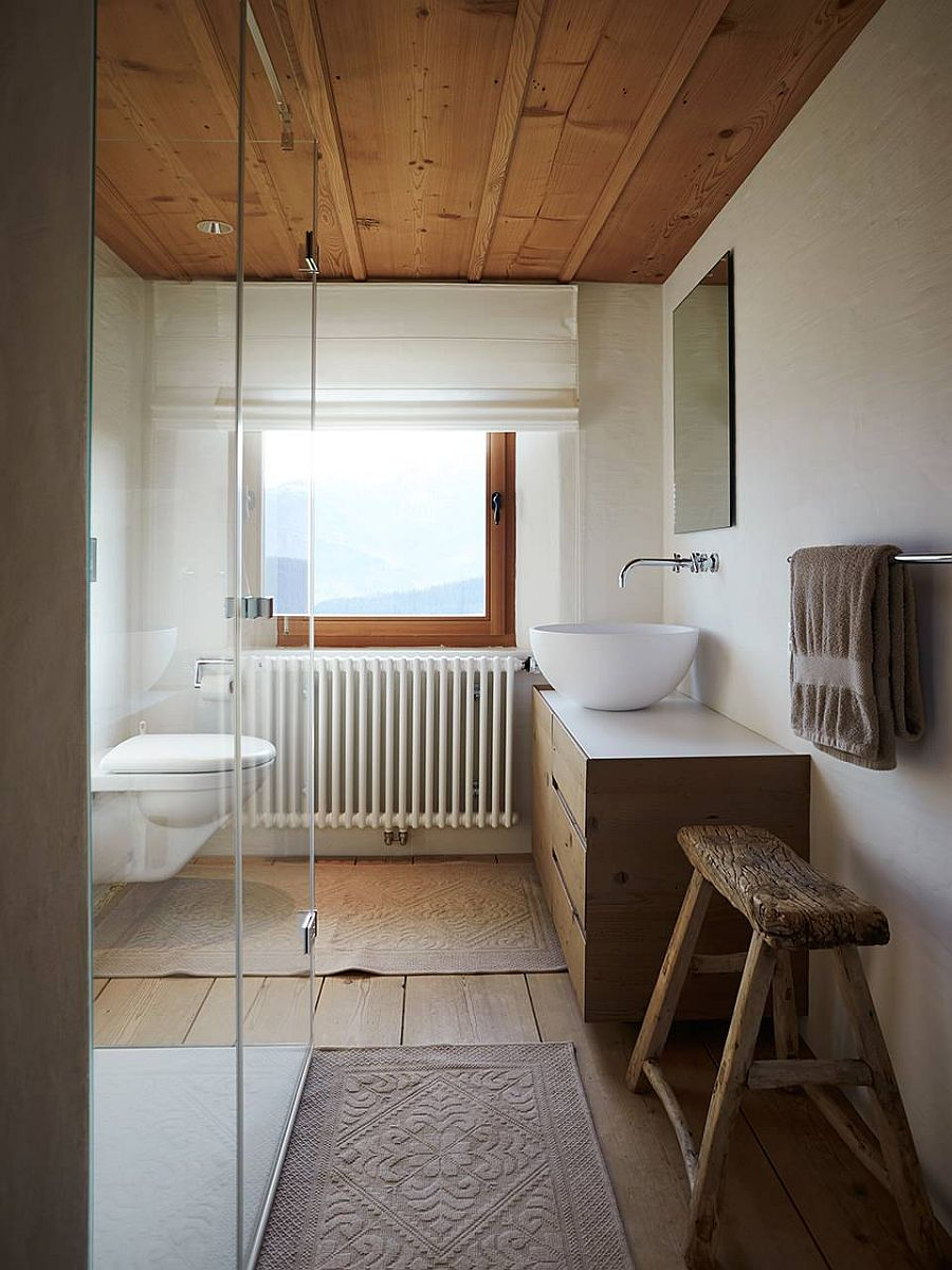 Rustic Bathroom with Natural Air Ventilation