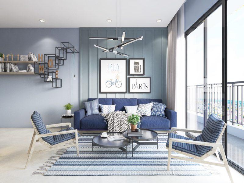 Nautical Blue Living Room