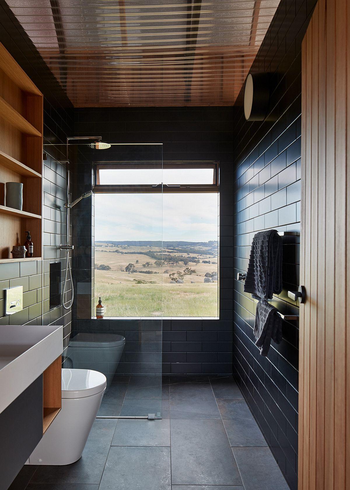 Black Rustic Rustic Bathroom