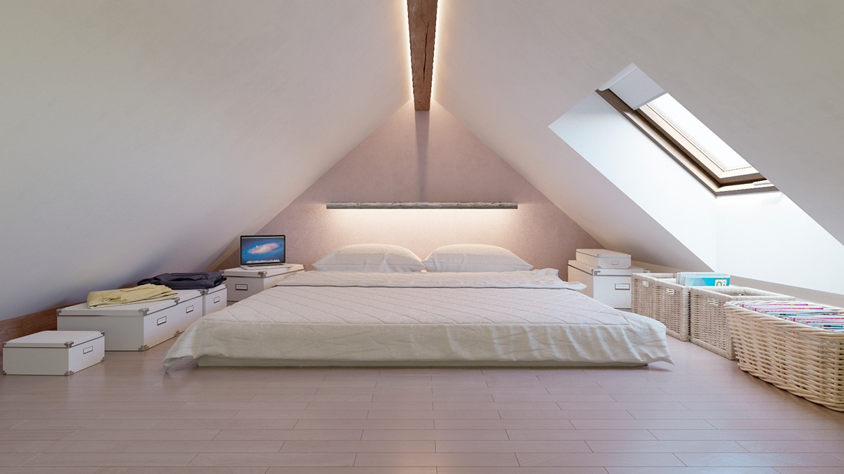 Symmetrical Attic Bedroom