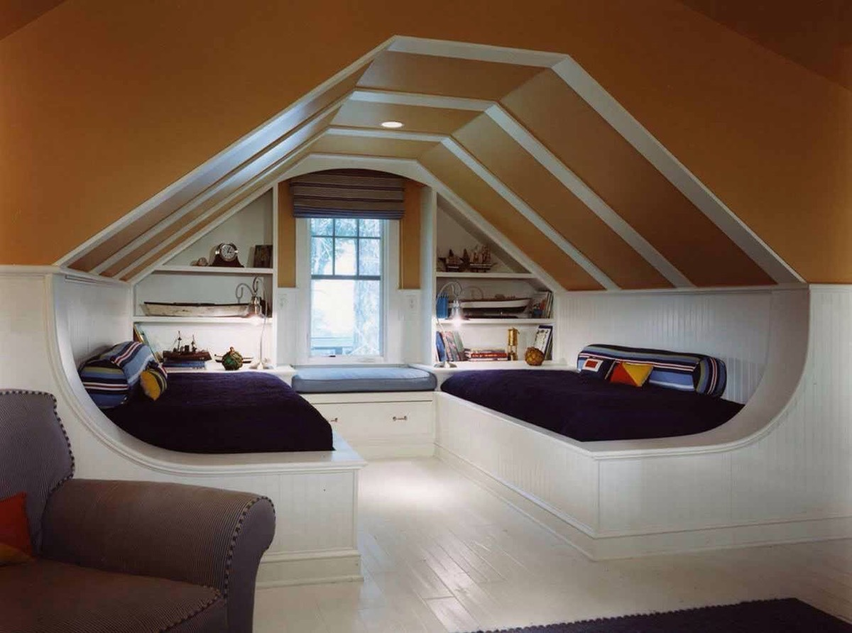 Attic Bedroom with Twin Beds