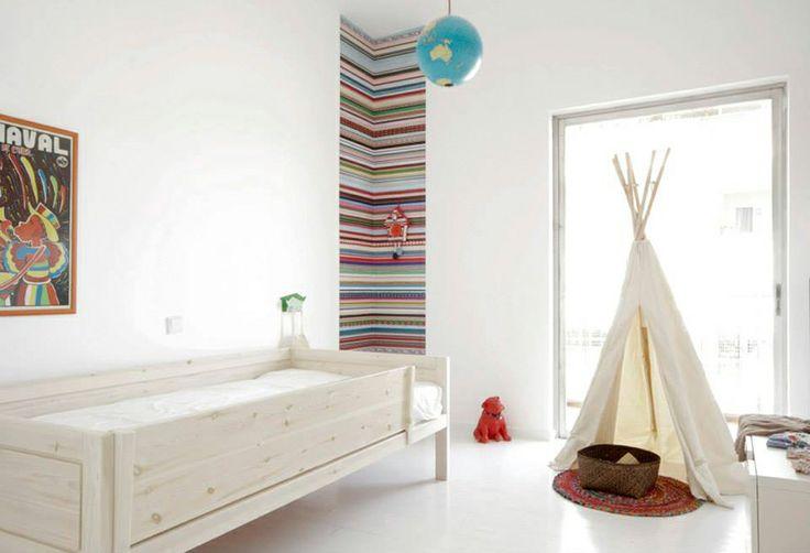 Minimalist Children's Bedroom with Tent