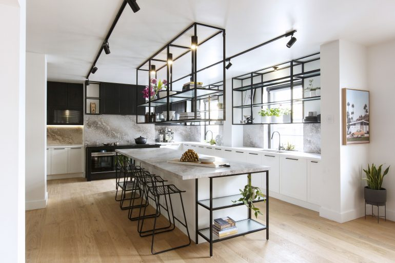 Industrial Kitchen With Cafe Style