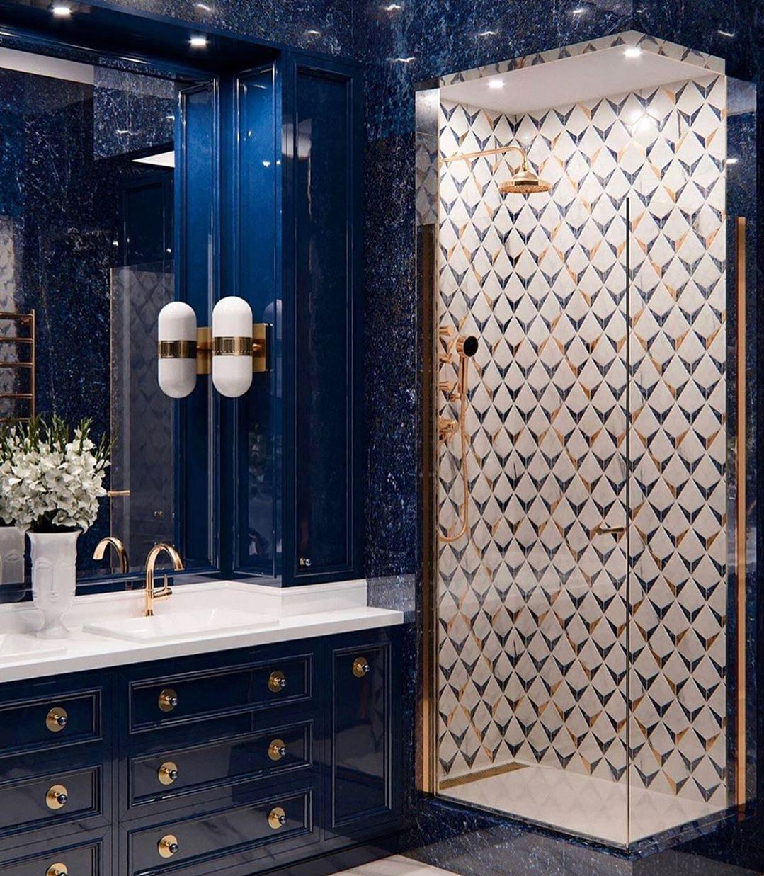 Luxurious Navy Bathroom