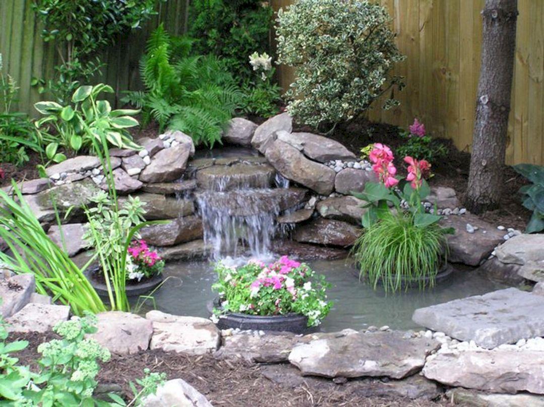 Fish Pond in Backyard Corner