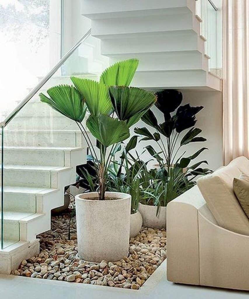 Mini Garden in Stairs Area