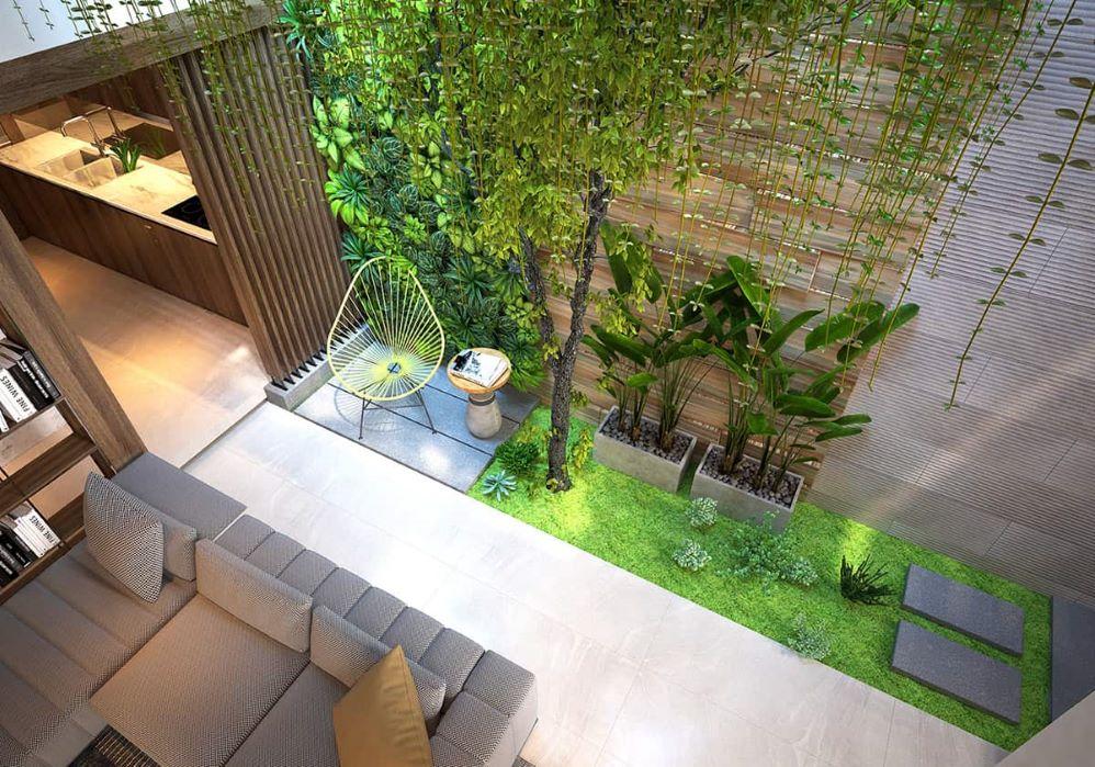 Vertical Garden in Living Room