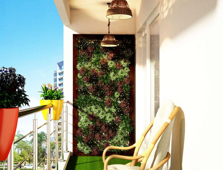 Balcony as a Simple Garden