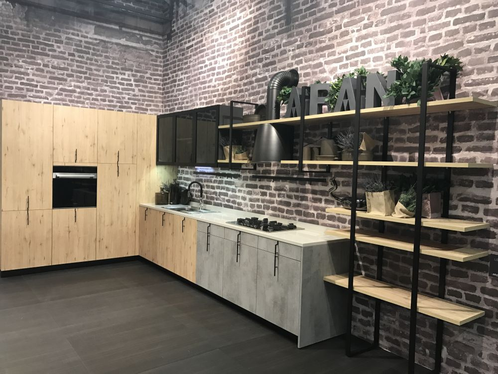 Industrial L Shape Kitchen