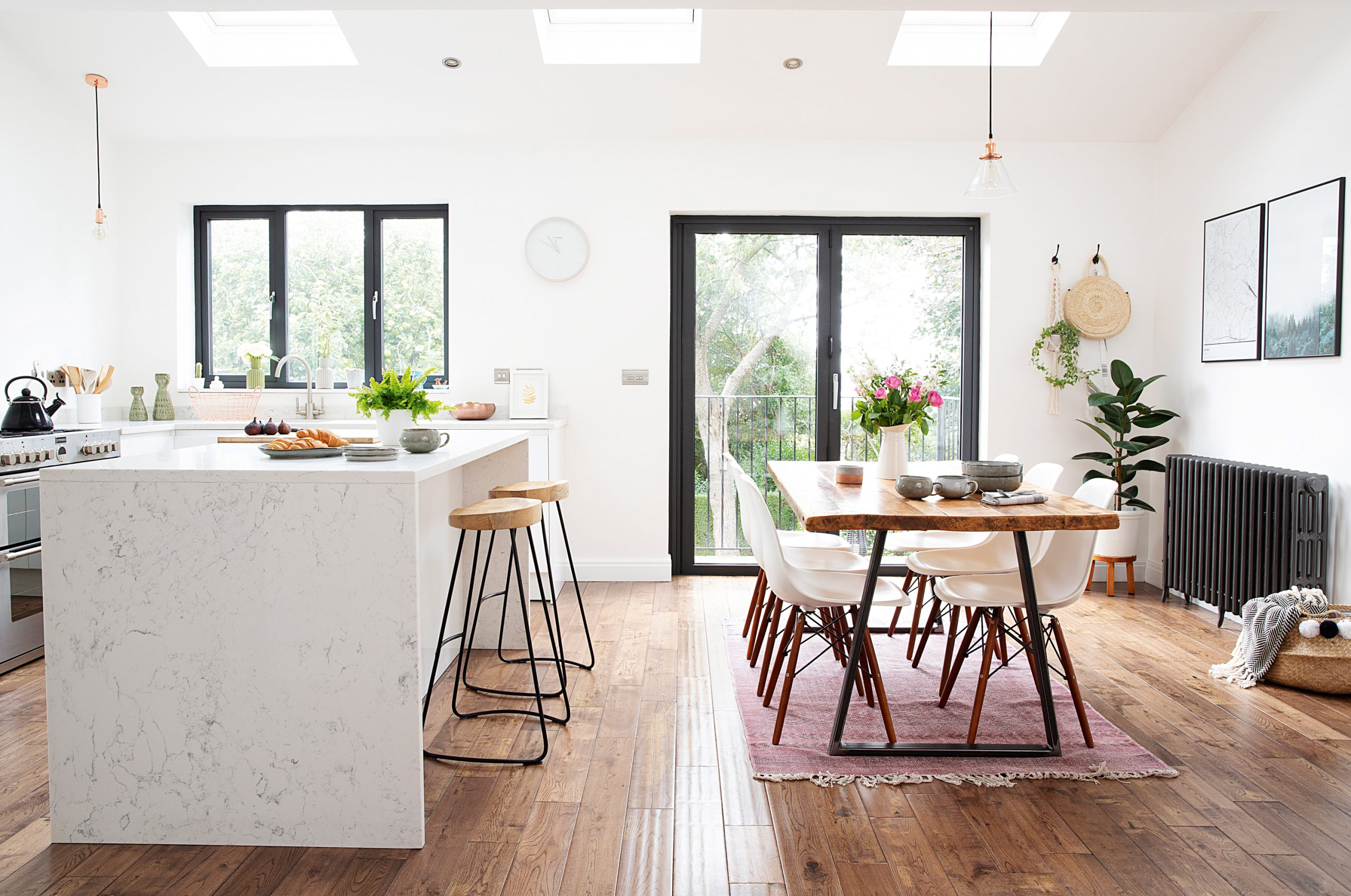 L Shape Kitchen in Open Space Concept