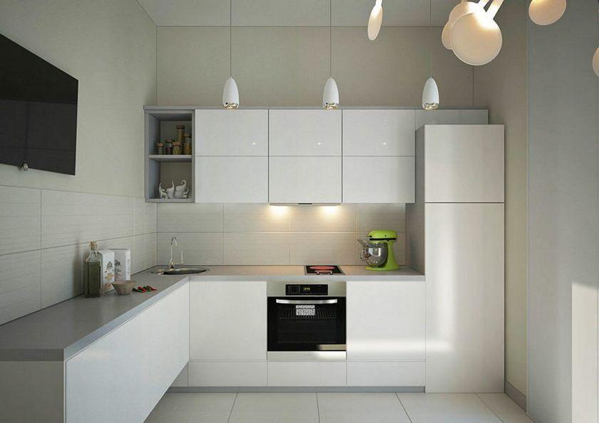Minimalist L Shape Kitchen