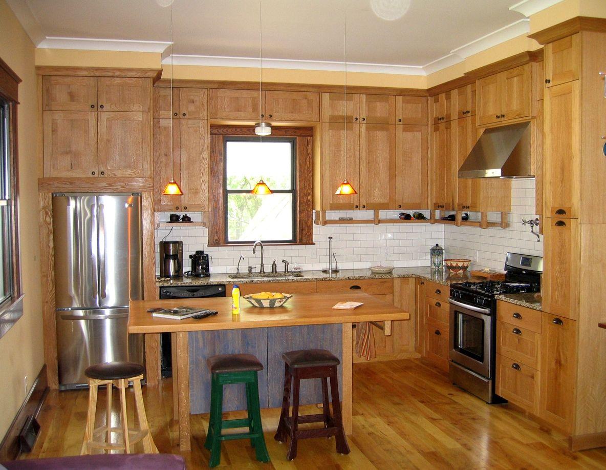 Rustic L Shape Kitchen