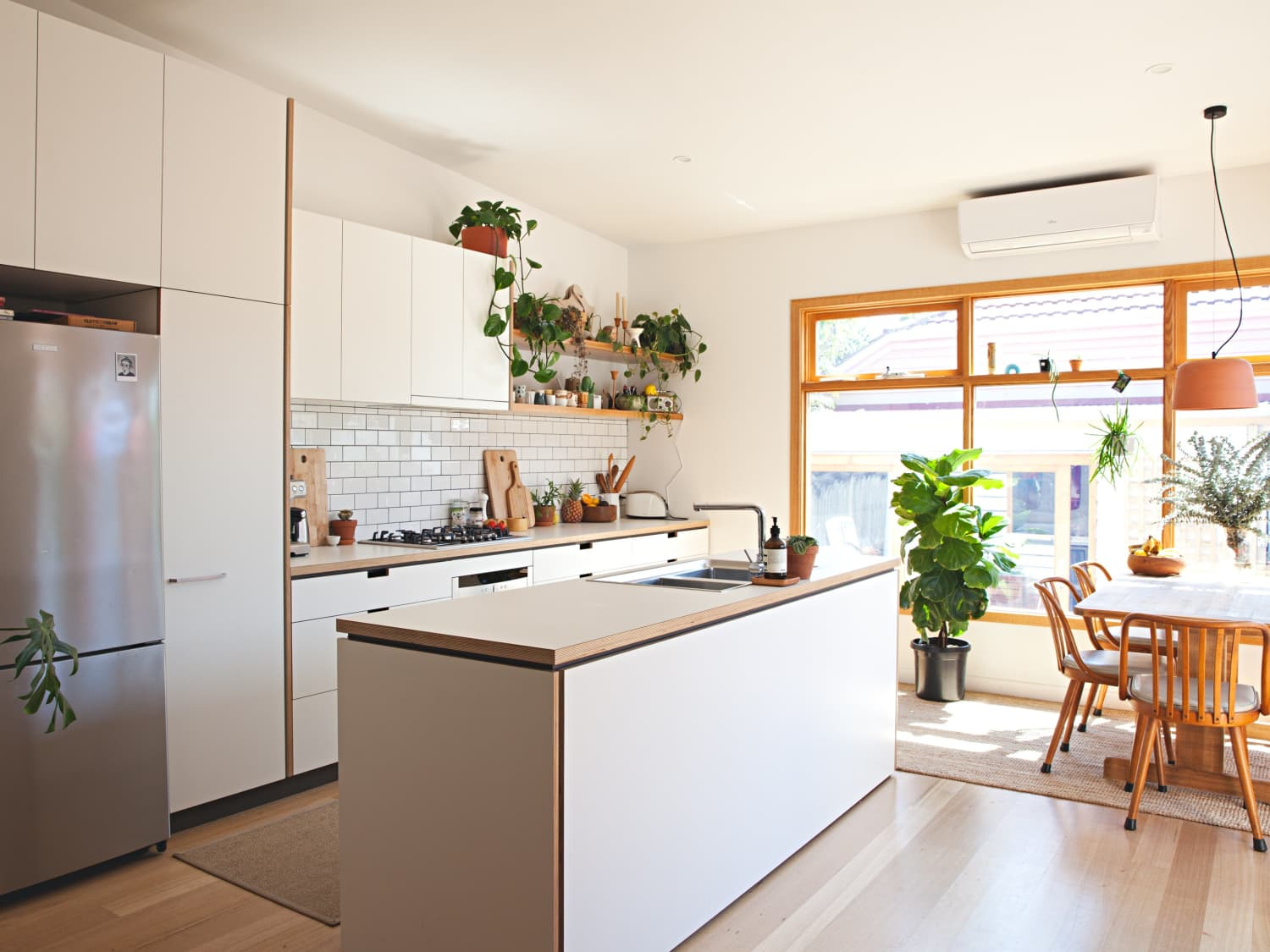Single Wall Kitchen with Island