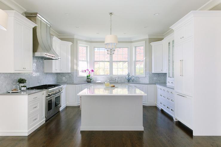 U Shaped Kitchen with an Island